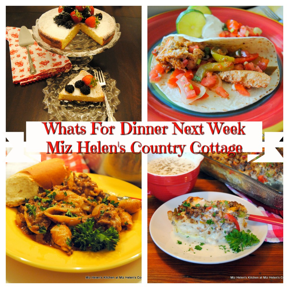 Whats For Dinner Next Week * Week of 9-13-20