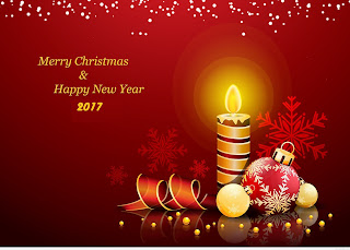 Merry Christmas and Happy New year card 2017