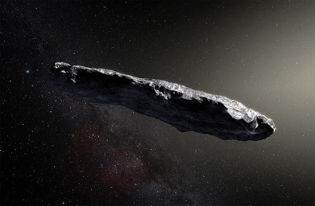 ilustração artística de Oumuamua