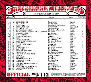KHJ Boss 30 No. 112 - August 23, 1967