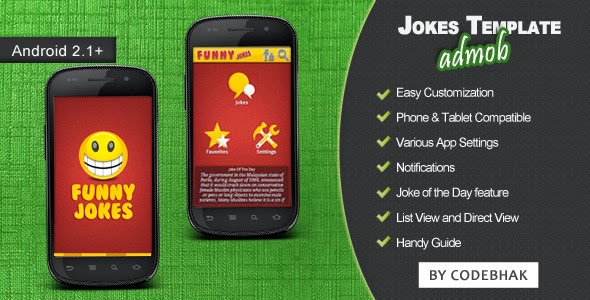Free android sources codes Jokes App Template with AdMob - Free App Template