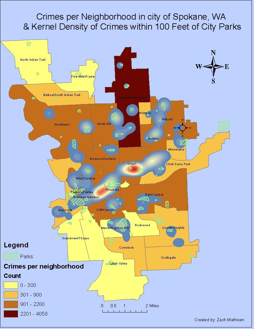 Map Spokane County Crime