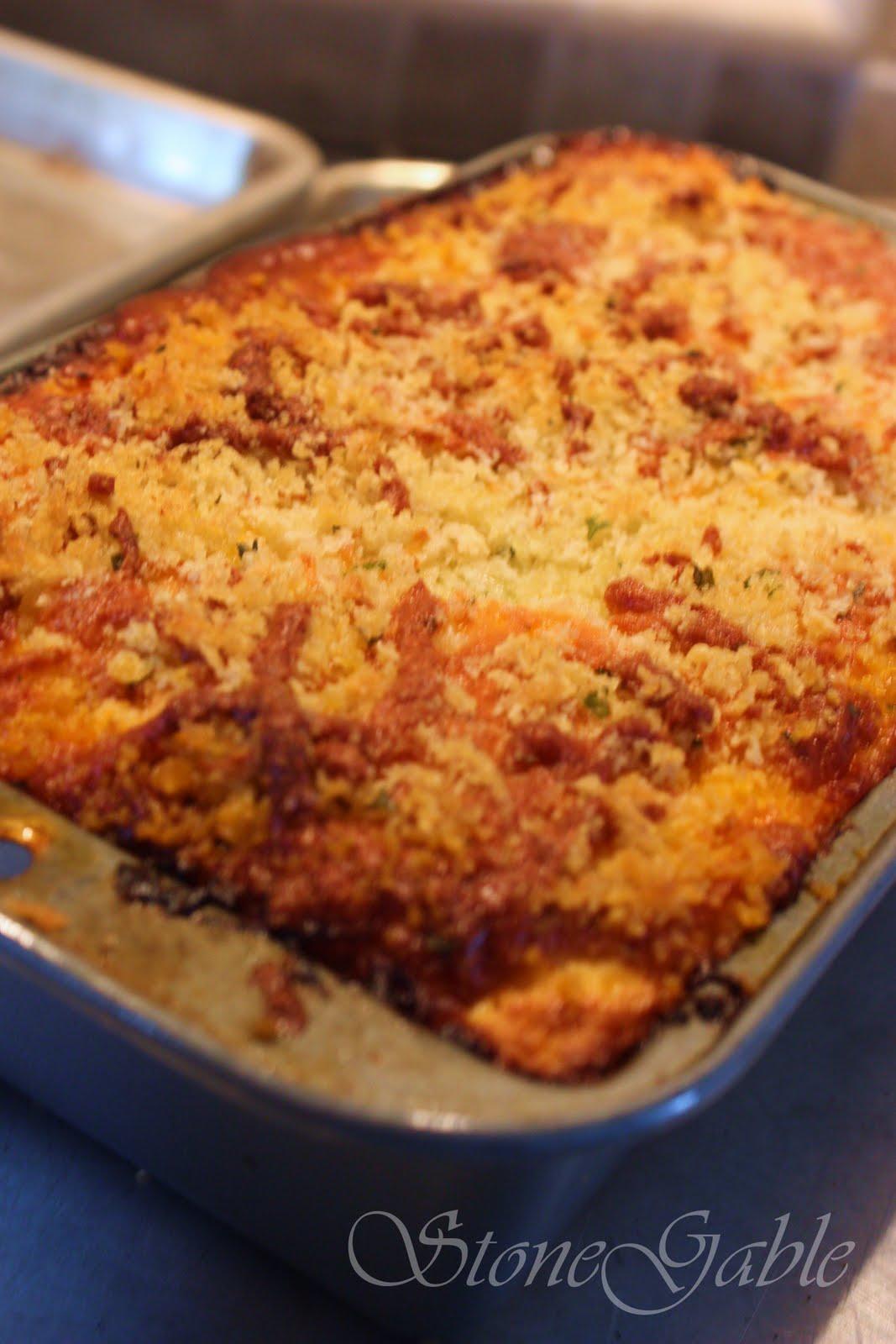 Eggplant Parmesan Casserole Stonegable