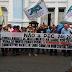 Manifestantes bloqueiam trânsito nas avenidas da região central da capital