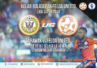 sarawak felda united live