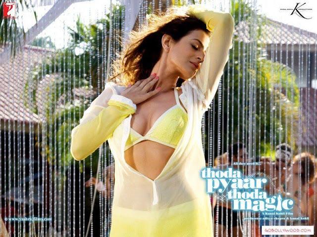 Ameesha Patel in Bikini Sexy Cleavage Images