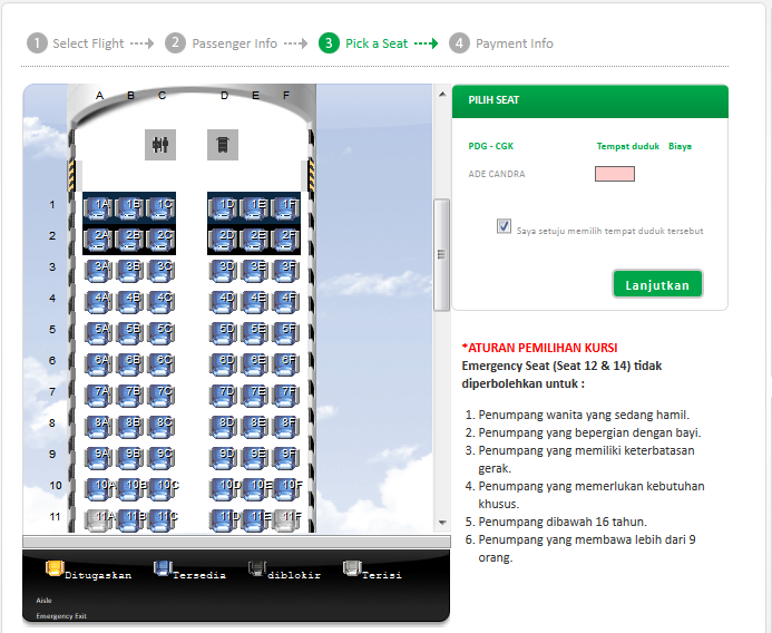 Emergency Seat (Seat 12 dan 14) by citilink