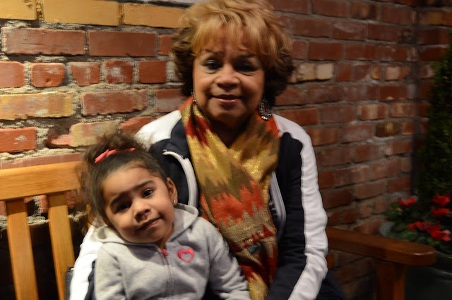 Pictured here is Sofia and her great grandmother Jean at Pappadeux