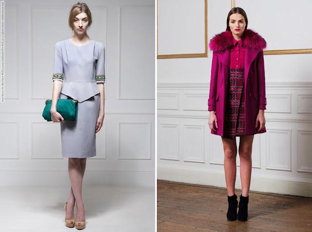 Монохромные комплекты одежды в голубых и розовых цветах
