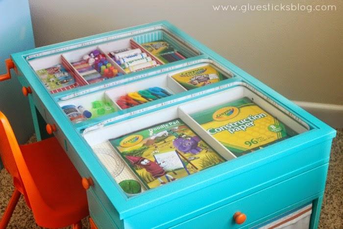 top of kids craft desk