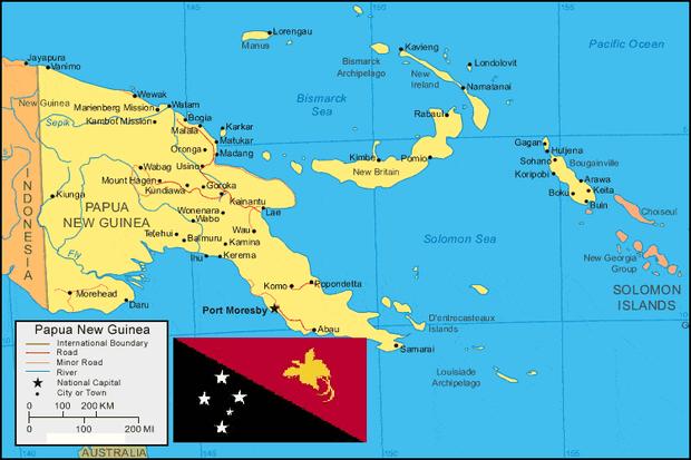 sehingga menjadikannya negara terbesar ke Peta Negara Papua Nugini Lengkap dengan Kota, Sumber Daya Alam, Batas Wilayah dan Keterangan Gambar Lainnya