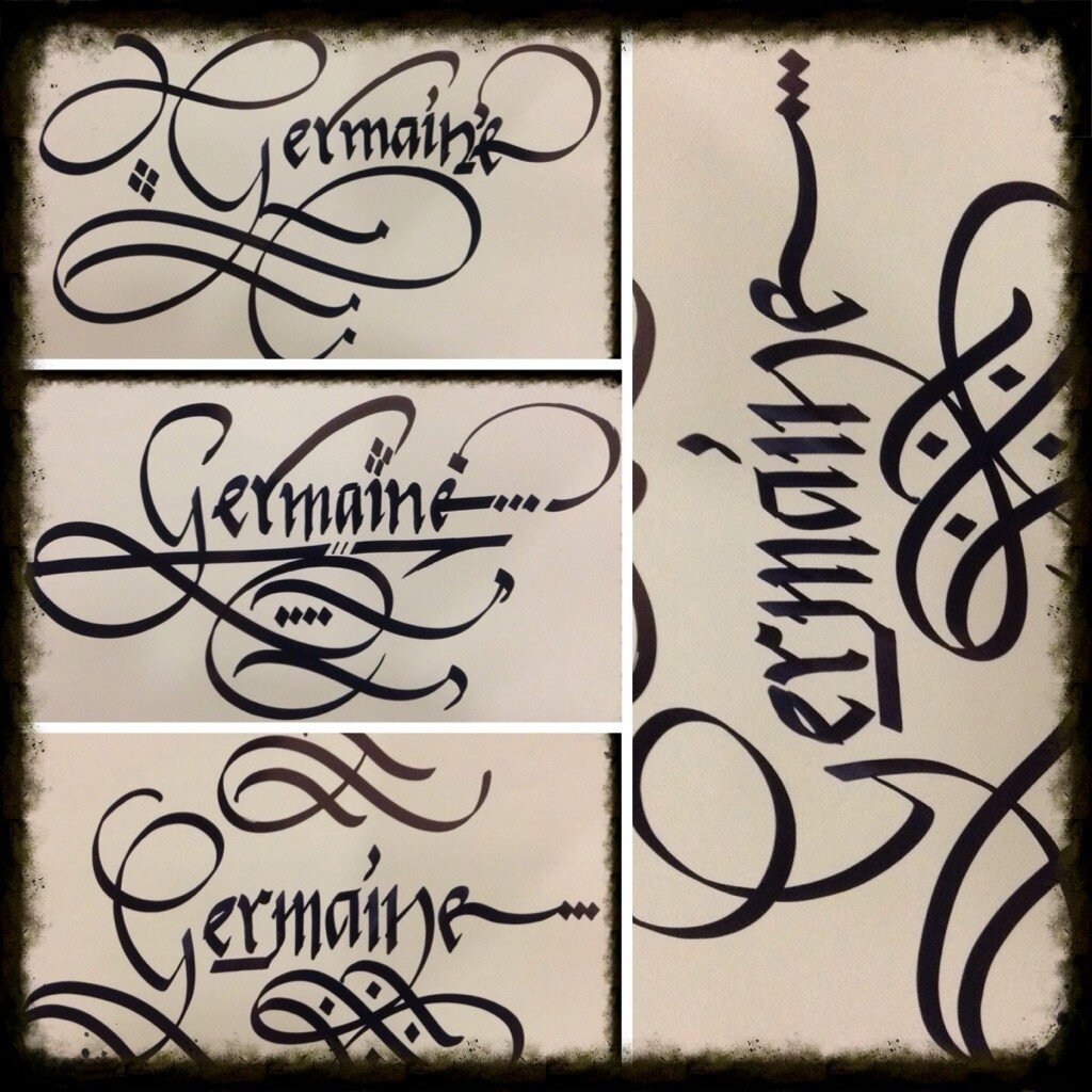 K Written In Calligraphy Calligraphy Art February 2013