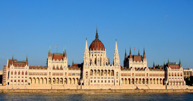 Parliament building Budapest danube hungary