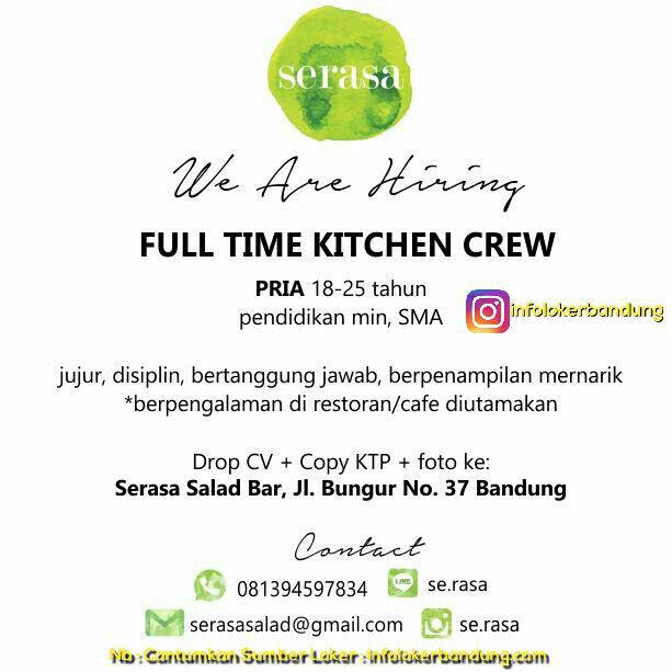 Lowongan Kerja Serasa Salad Bandung Juli 2017