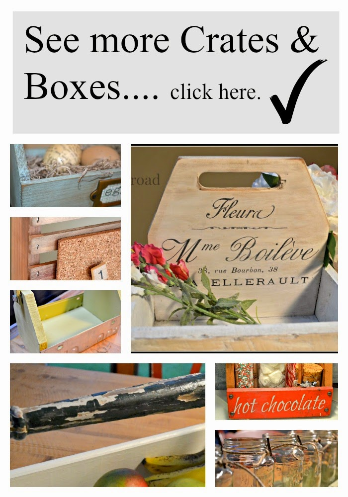 collage of wooden crates
