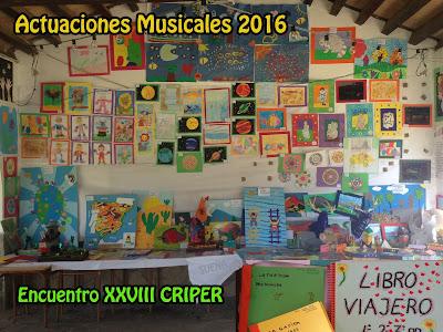 Encuentro CRIPER XXVIII Actuaciones Musicales 2016. Actuaciones musicales el viernes 3 de Junio del 2016. Actuaciones musicales del alumnado de las tres escuelas La Muela, Benamahoma y La Muela.