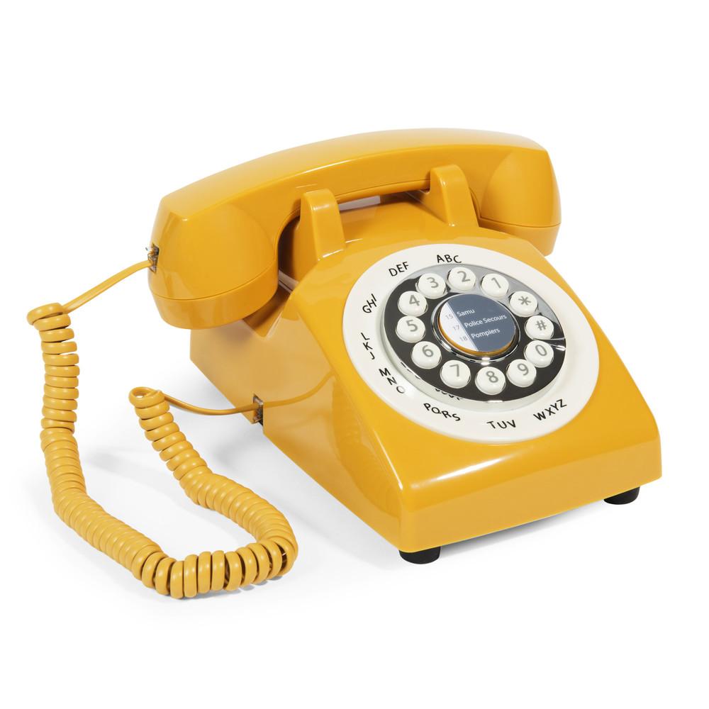 Téléphone vintage jaune - Maison du Monde -