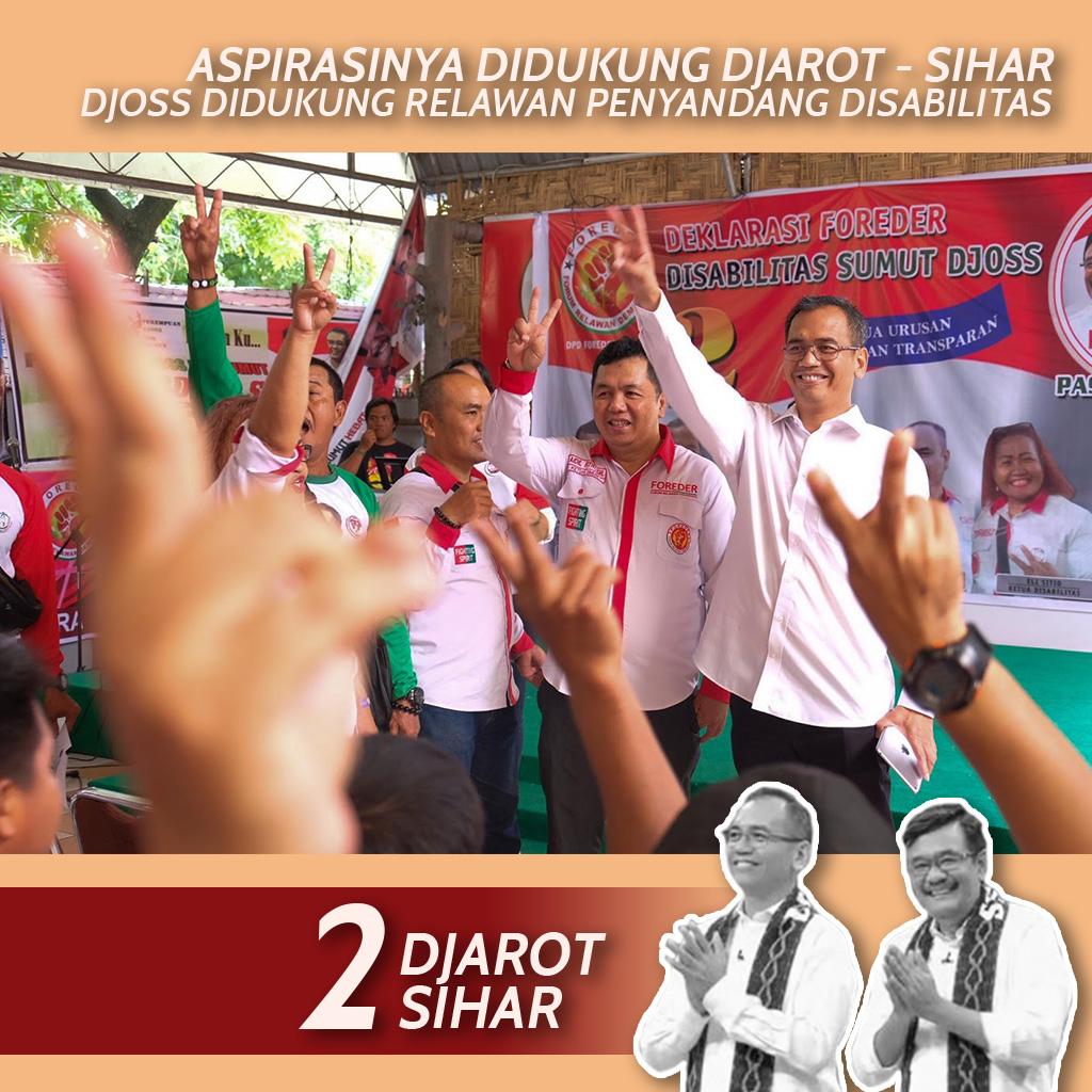 Forum Relawan Demokrasi Disabilitas deklarasi dukungan kepada paslon Djarot-Sihar