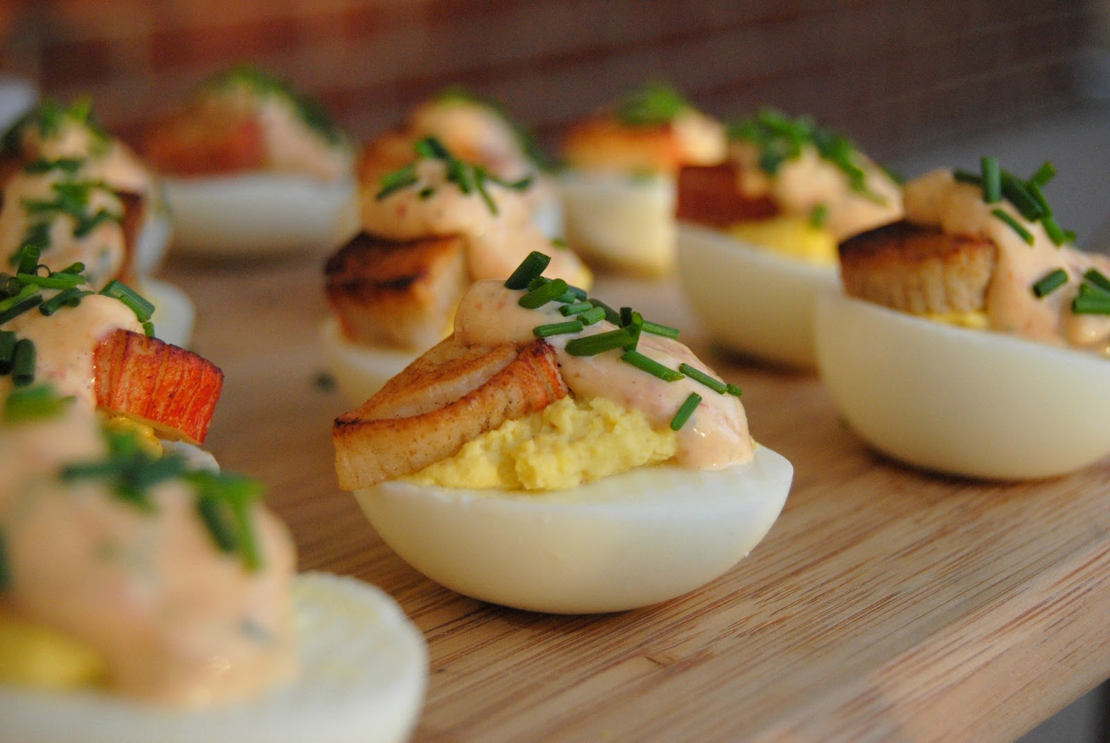 steaknpotatoeskindagurl crab and chipotle aioli deviled eggs. Black Bedroom Furniture Sets. Home Design Ideas
