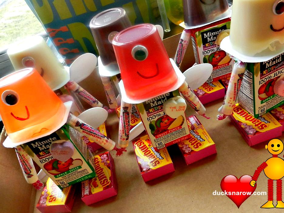 Valentine Robots Kids Party Favors - Ducks 'n a Row