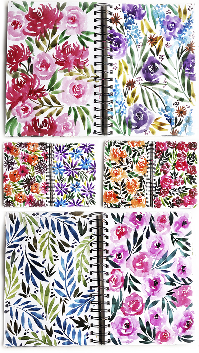 a peek inside my flower journal