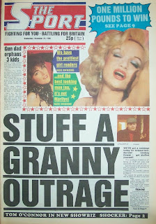 Front page of a vintage sport newspaper from 23 November 1988