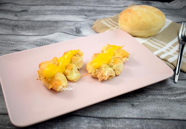Rollitos de Pollo con Queso en Salsa de Mango. Vídeo Receta