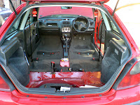Rover 25 Seats Removed