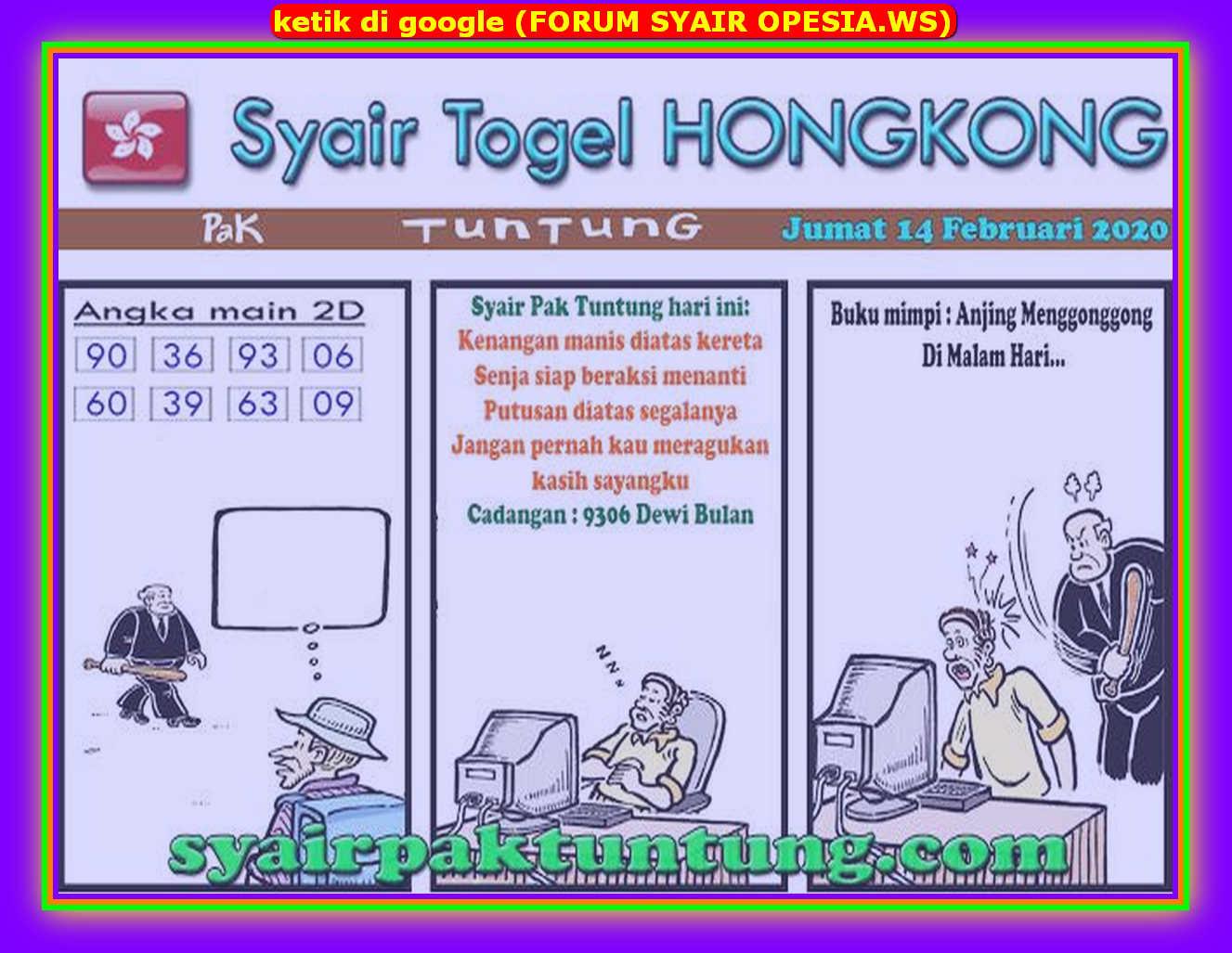 Kode syair Hongkong Jumat 14 Februari 2020 148