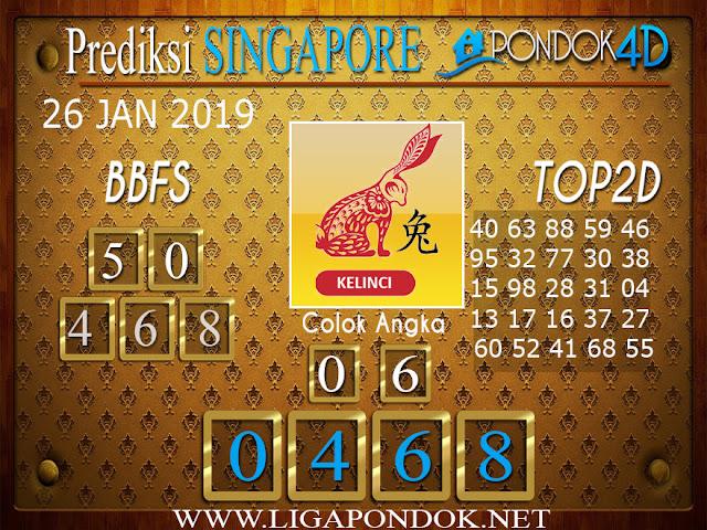 Prediksi Togel SINGAPORE PONDOK4D 26 JANUARI 2019