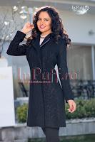 Palton dama elegant negru (MBG)