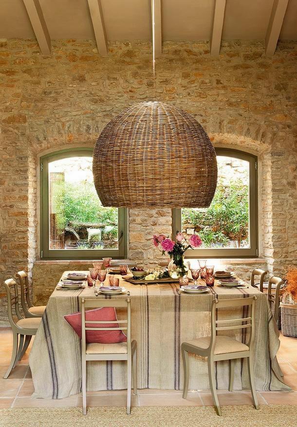 mesa de comedor para una casa de campo