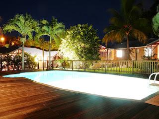 Eclairages nocturnes aux gites Lamatéliane, Guadeloupe