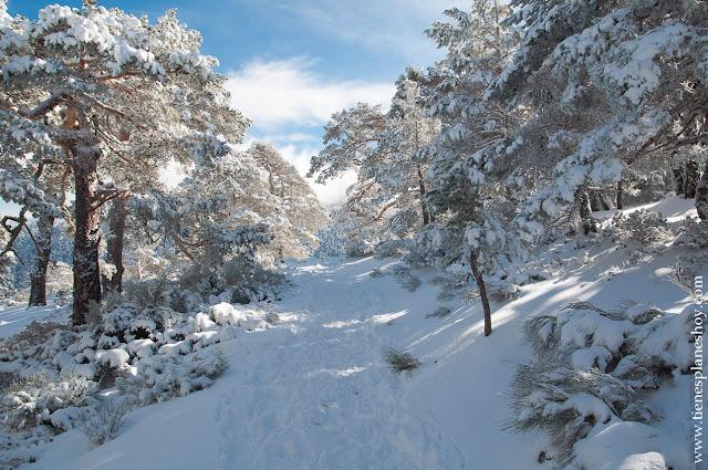 Ruta circular raquetas Guadarrama nieve invierno planes Madrid