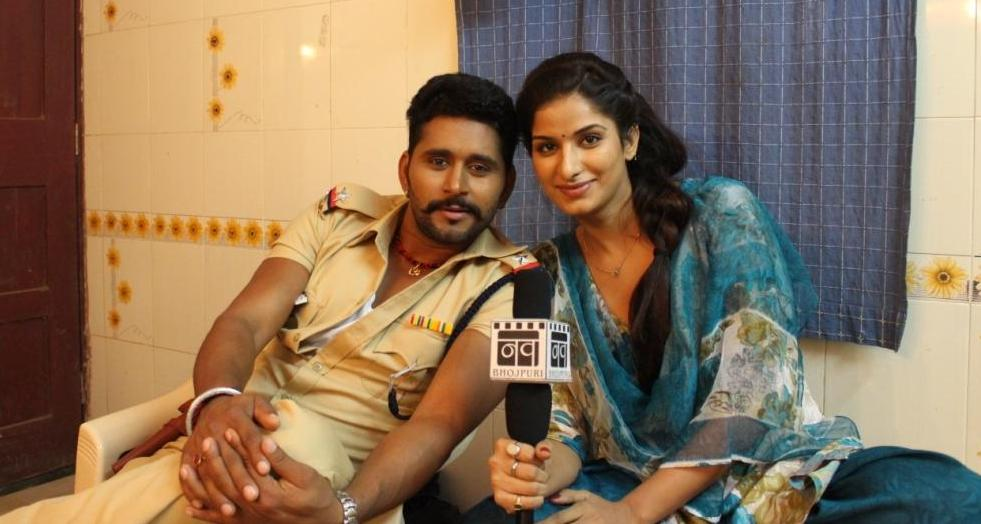 Yash Kumar and Poonam Dubey ON Set of Lootere Bhojpuri Film Shooting photo