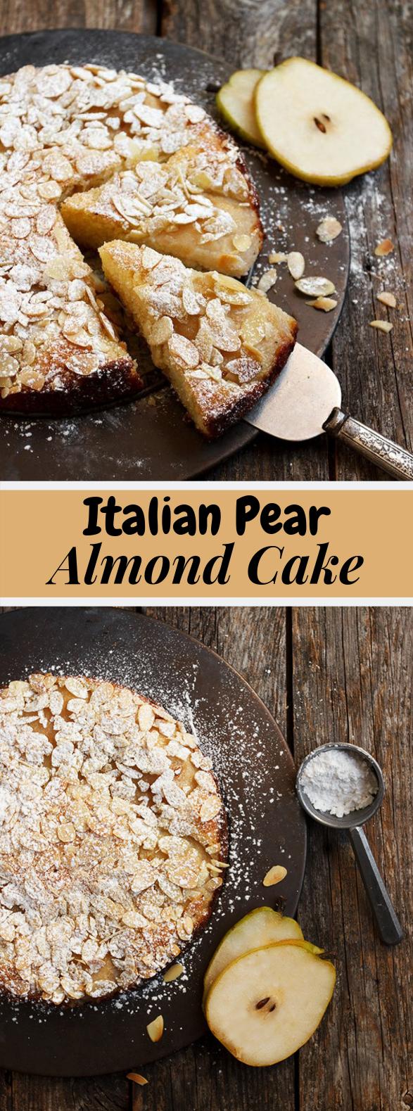 Italian Pear Almond Cake #Dessert #Dinner
