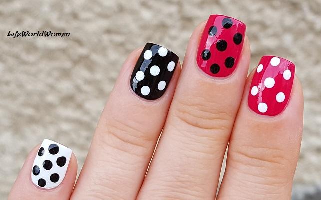 Life world women black pink white polka dot nail art black pink white polka dot nail art prinsesfo Gallery