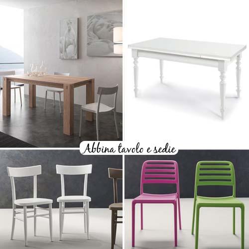 Abbina tavolo e sedie arredamento facile - Tavolo con sedie diverse ...