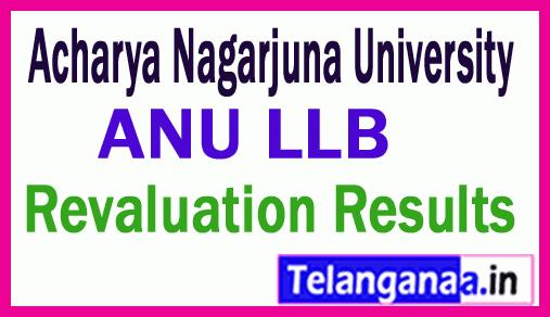 Acharya Nagarjuna University LLB Revaluation Exam Results