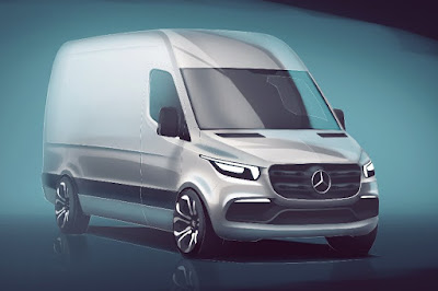 Mercedes-Benz Sprinter Panel Van (2019 Rendering) Front Side
