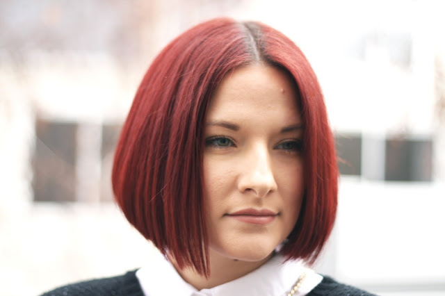 Red hair, hair inspiration, bob hairstyle, hair blog