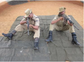 5.56mm INSAS Rifle Sitting position