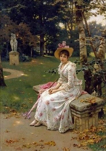 German Genre Painter Wilhelm Menzler Casel 1846 1926