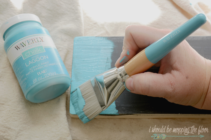 I Should Be Mopping The Floor: DIY Weathered Chalk Paint Sign
