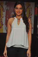 Tanya Hope in a whtie shirt and leggings at Song launch of Movie Patel Sir ~  Exclusive Celebrities Galleries 004.JPG