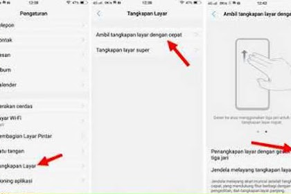 Mengambil Gambar Screenshoot di HP Vivo Y91 Paling Cepat