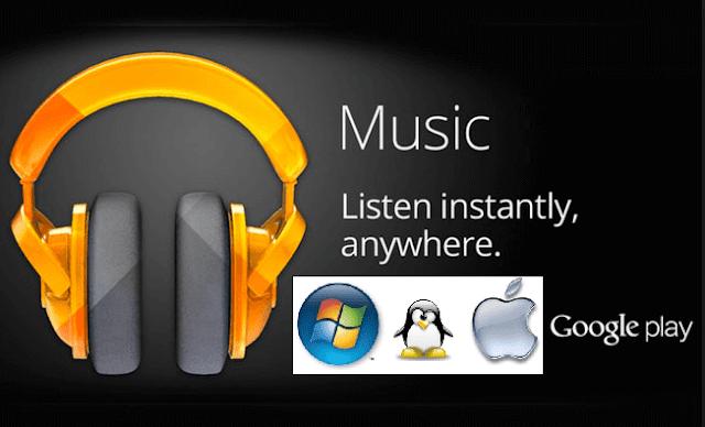 برنامج Google Play Music للكمبيوتر