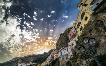 Wallpaper: Sunset in Amalfi