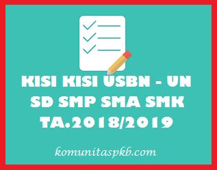 Kisi - Kisi UNBK SMP MTs Tahun Pelajaran 2018/2019