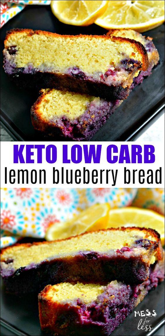Keto Low Carb Lemon Blueberry Bread